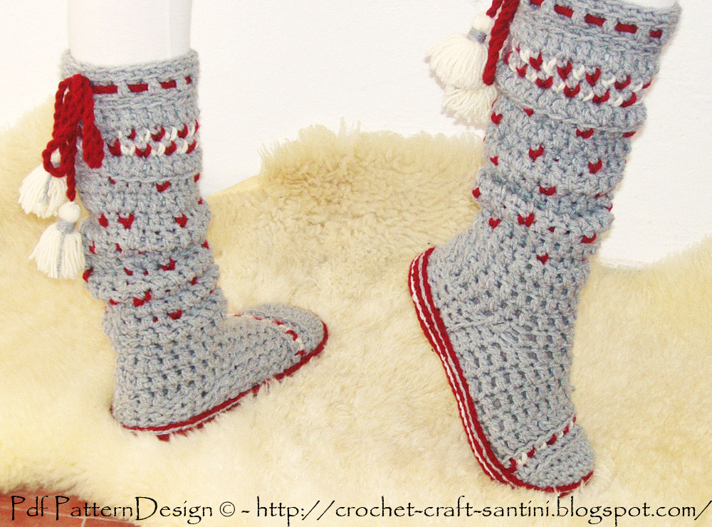 Protective Crochet Soles For Socks And Slippers
