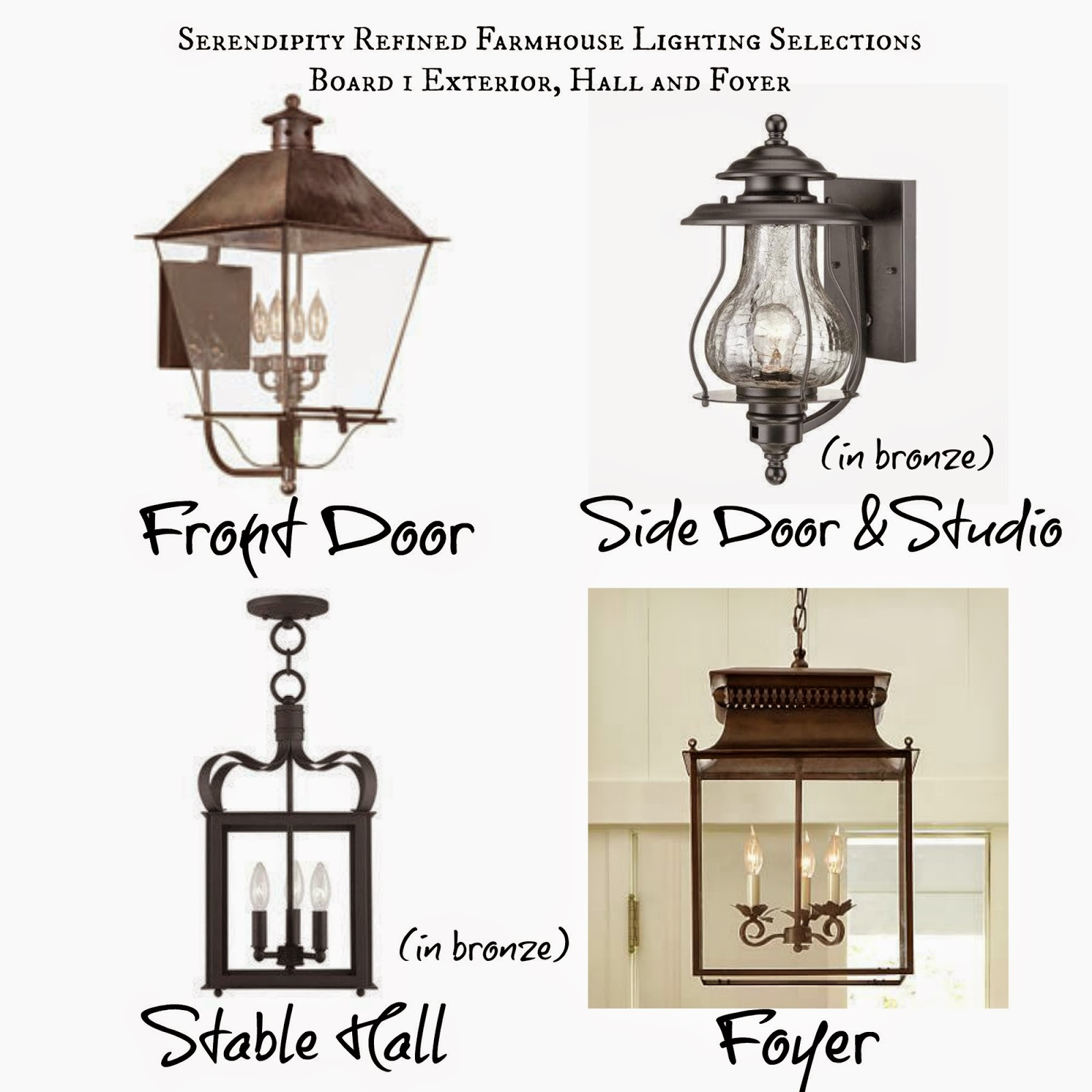 French Farmhouse Update Lighting And Door Hardware Selections