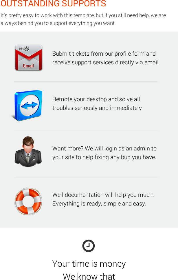 Outstanding Supports - MagOne - Magazine Blogger Template
