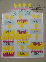 Preschool Birthday Chart Printable