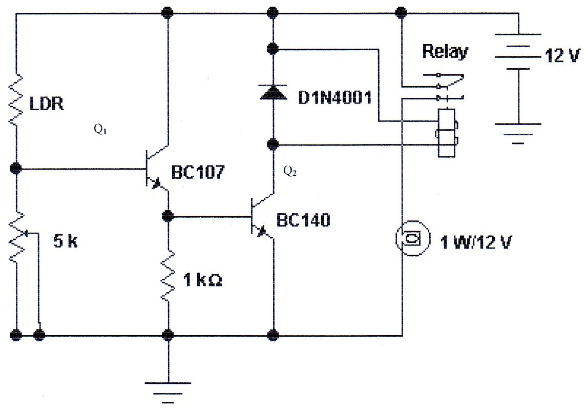 Blog Teknik Amp Vokasi Rangkaian Detektor Cahaya