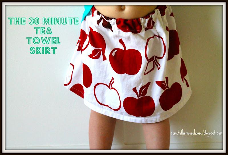 The Thirty Minute Tea Towel Skirt: Tutorial