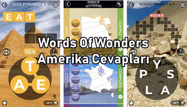 Words Of Wonders Amerika Cevaplari