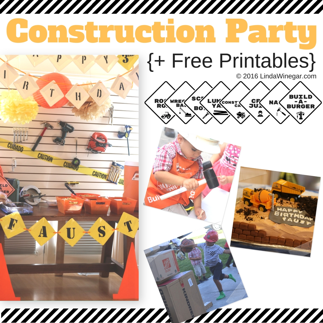 Party Printables: Construction Theme - Linda Winegar
