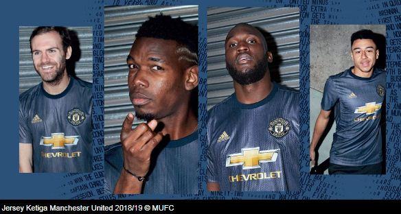 Manchester United Resmi Rilis Jersey Ketiga Musim 2018-2019