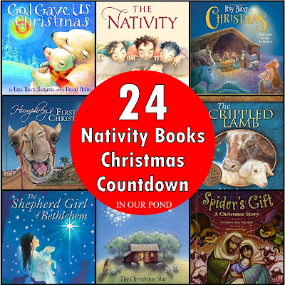 24 Nativity Book for Counting Down to Christmas from In Our Pond