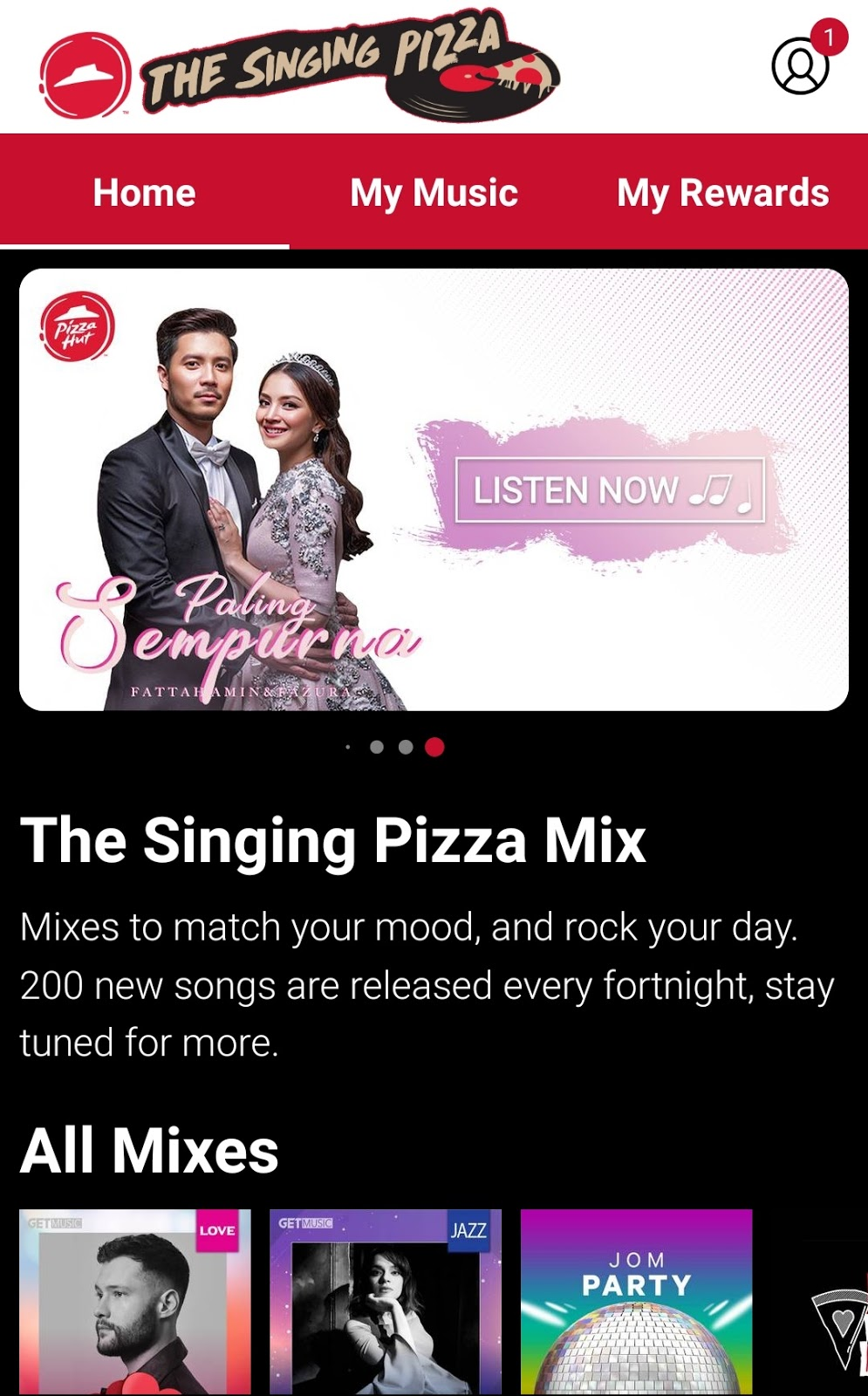 THE SINGING PIZZA