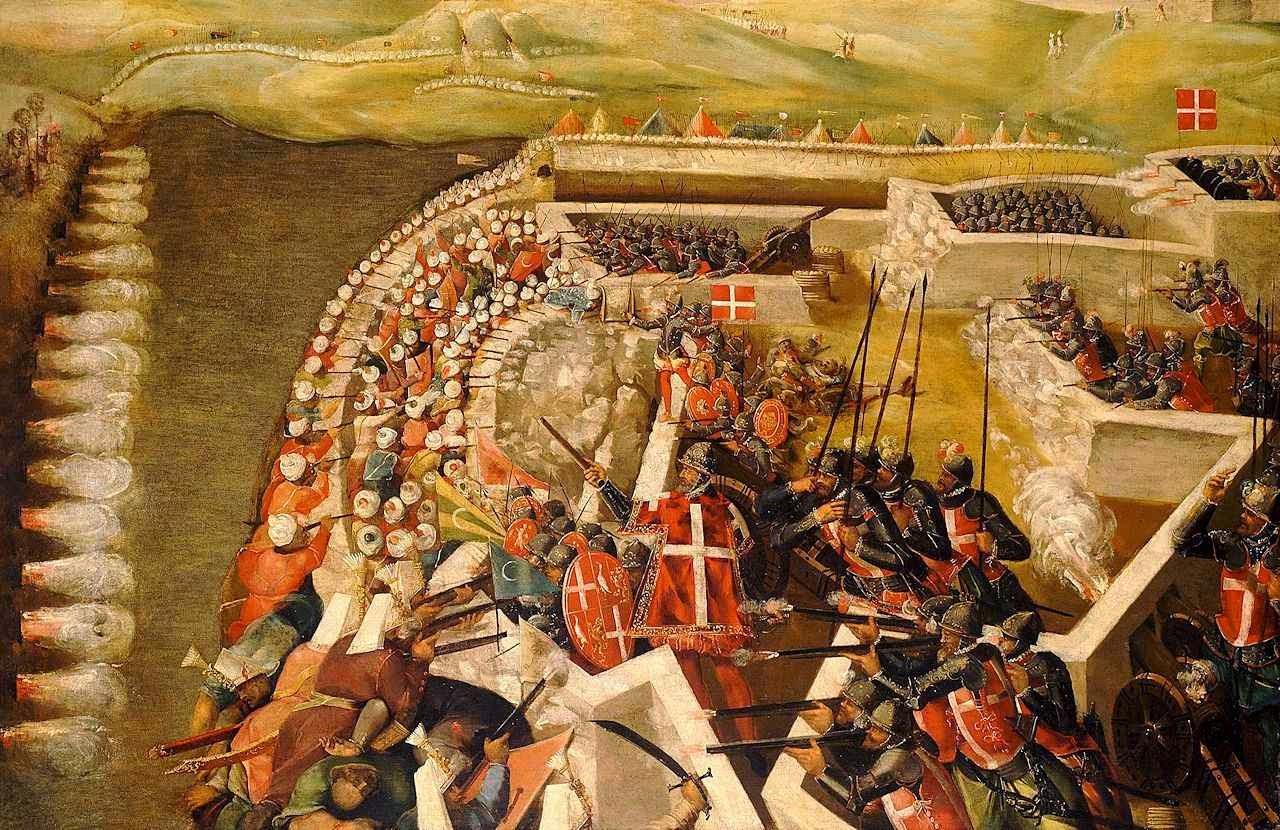 Grande Cerco de Malta: assalto turco às posições castelhanas.