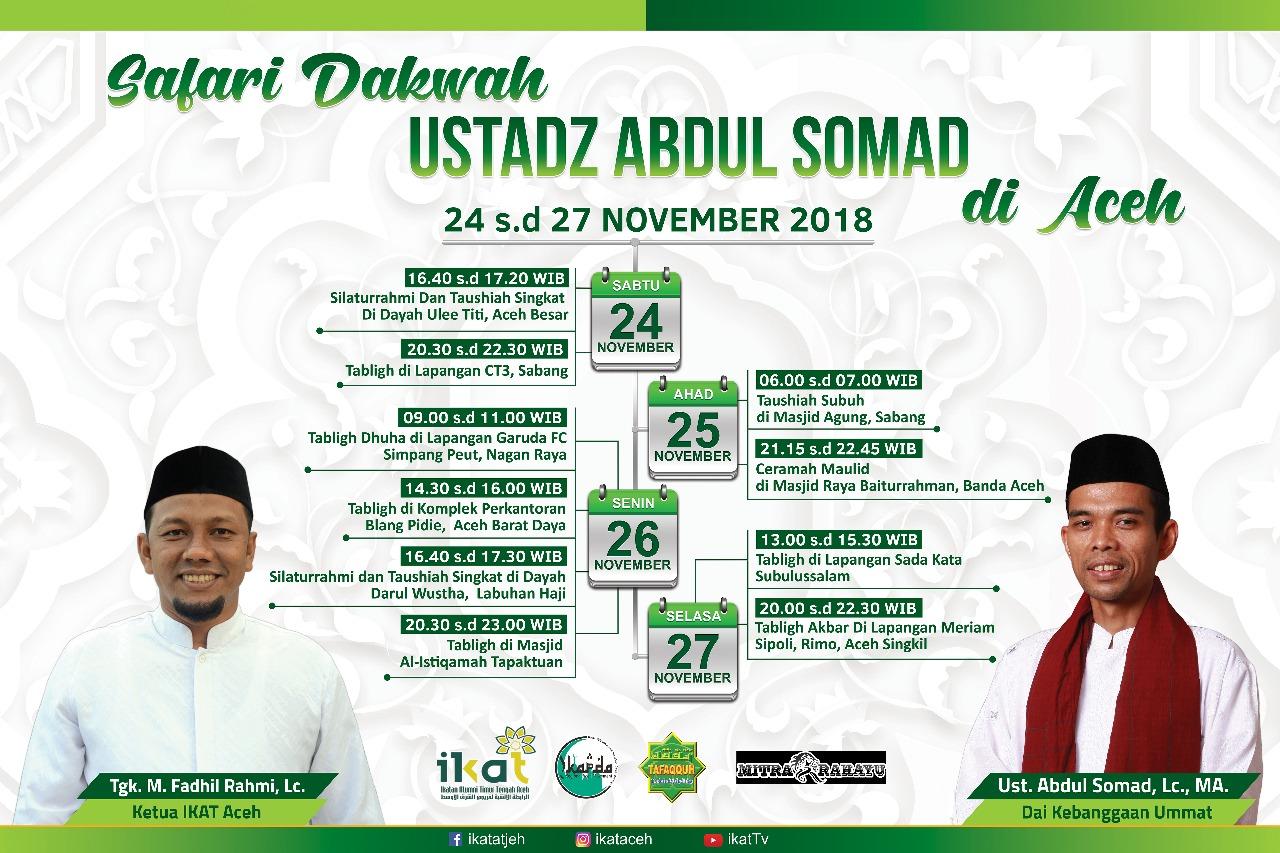 24 Sampai 27 November, Ustad Abdul Somad Dijadwalkan ...