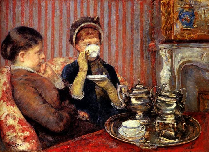Chá - Pinturas de Mary Cassatt | Mulheres na pintura