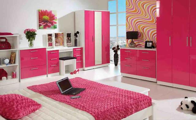 Tips padu padan warna pink pada design interior kamar tidur minimalis