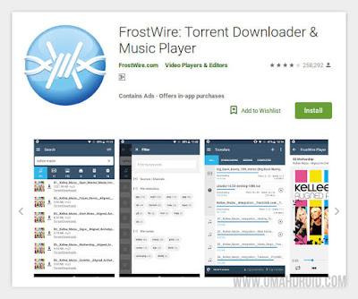FrostWire Pemutar Musik Torrent