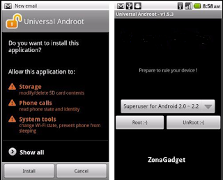 9 Cara Root Android dengan Mudah Tanpa PC/Laptop menggunakan universal androot