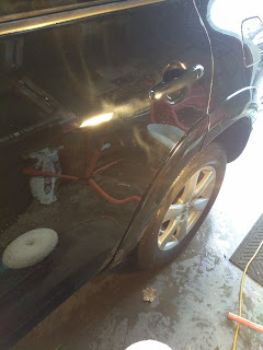 Knoxville poor air and steam cleaning ktown car wash news notice the defects near the door handle i decided to go heavy and start with a aggressive wool pad i wanted to get straight to the point solutioingenieria Images