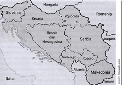 Peta wilayah Republik Rakyat Federal Yugoslavia