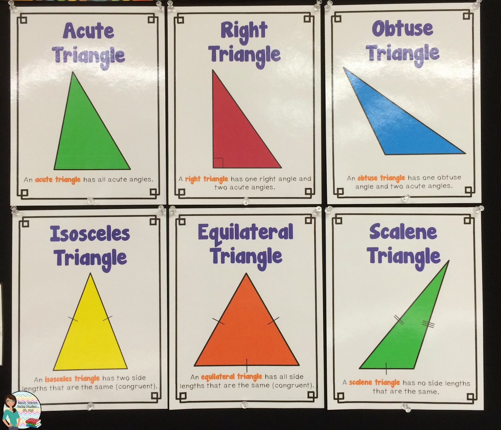 Math Science Social Stu S Oh My Foldable Friday Types Of Triangles