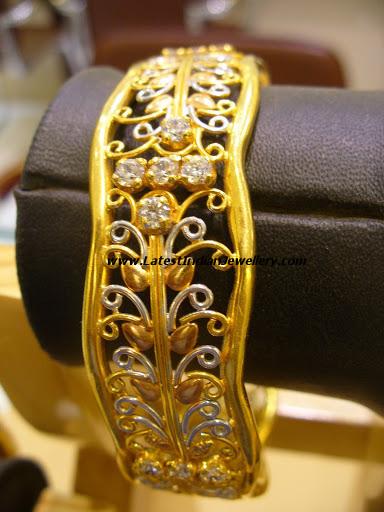 heavy designer broad single bangle