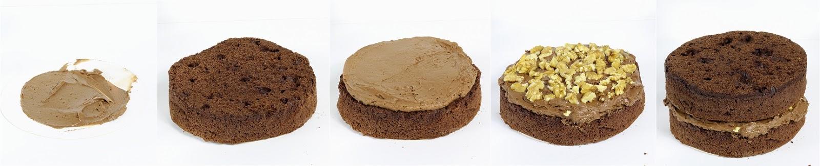 Schokoladen-Karamell-Walnuss-Himbeer-Torte - Drip Cake Anleitung 2