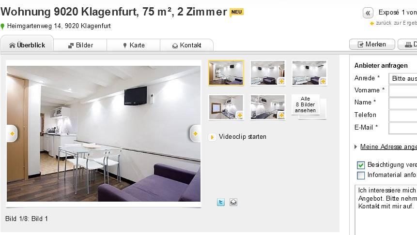 Single wohnungen klagenfurt