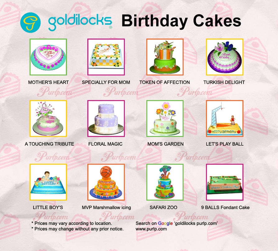 Goldilocks Cake Design For 60th Birthday : Goldilocks Birthday Cake Price List 2017 Goldilocks Cake ...