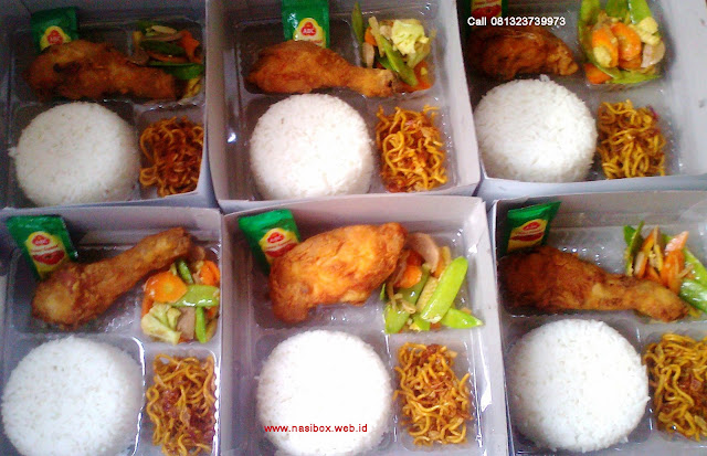 Nasi box fried chicken di ciwidey