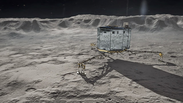 Philae - a spic and span landing on a comet