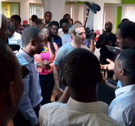 Facebook Founder Mark Zuckerberg In Nigeria...