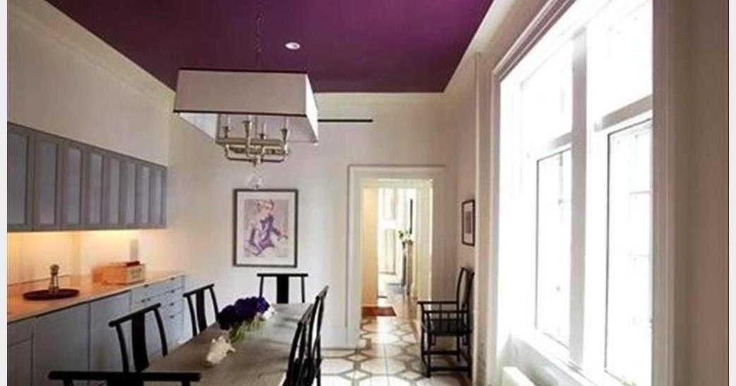 26 Kombinasi Warna Cat Plafon Ruang Tamu Penting