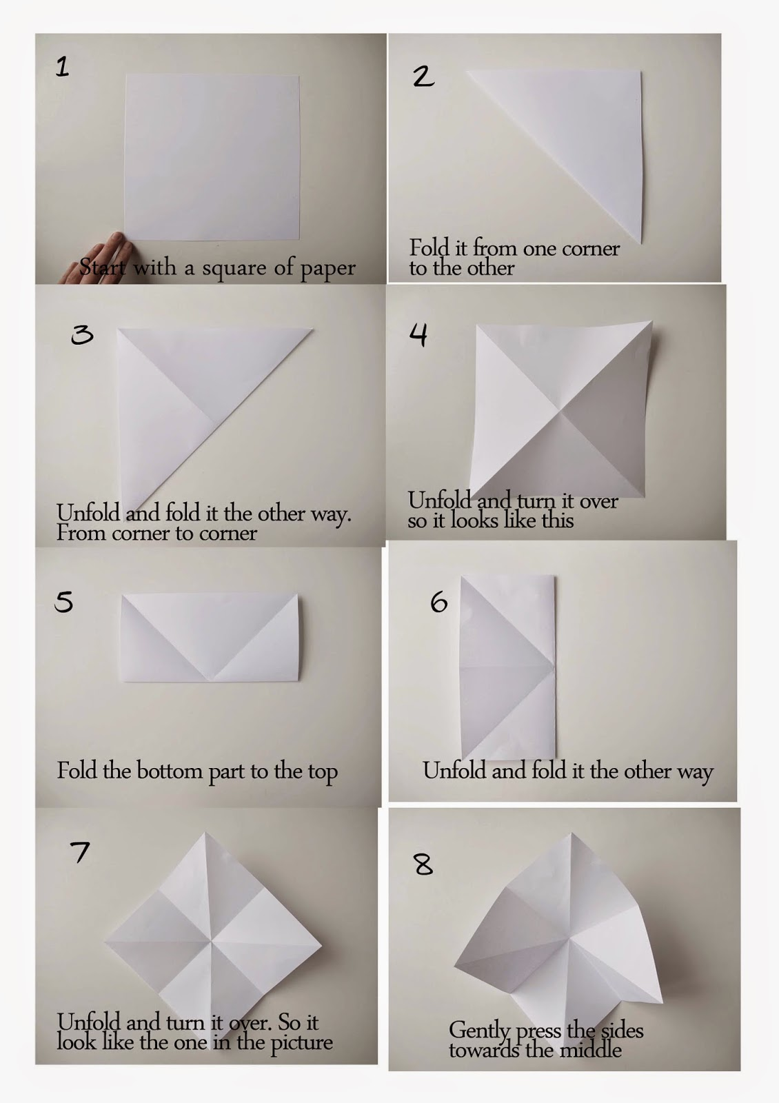 Diamond Ornaments Origami