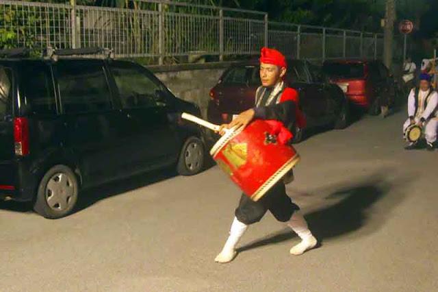 Eisa, dance, drummer, Kin Town, Okinawa