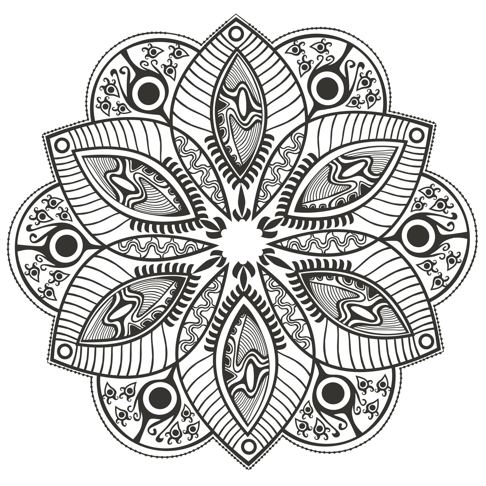 pinterest mandala coloring pages - photo#14