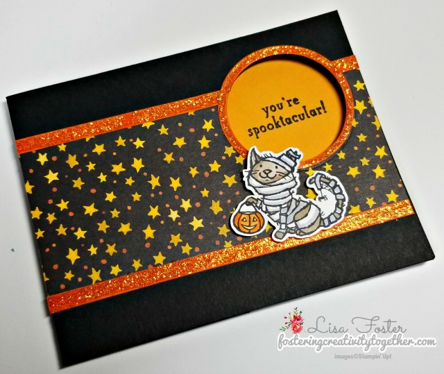fancy fold, peek a boo card, trick or tweet, halloween