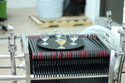 A plate filter makes an excellent table for samples when not in use.