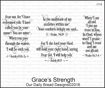 Our Daily Bread Designs Stamp Set - Grace's Strength