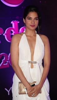 Actress Tanya Choudhary Stills in White Dress at Apsara Awards 2016 0014.jpg