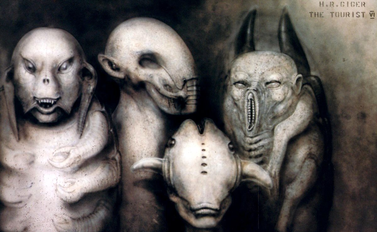 Arte conceituai de HR Giger para The Tourist