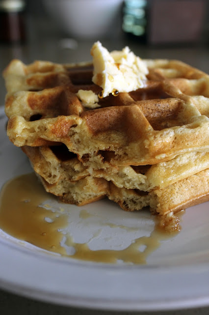 Recipe for Light and Fluffy Classic Waffles by freshfromthe.com.