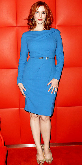 Christina Hendricks At The Amc Mad Men Gala Event Stylish Curves