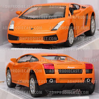 Miniatur Lamborghini Gallardo (Orange-32K)