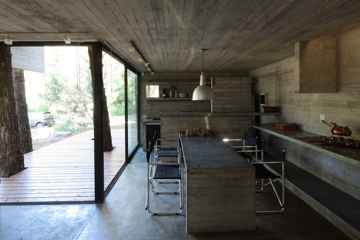 Concrete House Interior Concrete Design Or Breakfast