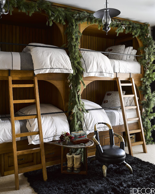 image result for bunk room guest ski house in Montana mountains designed by Ken Fulk Halfway House