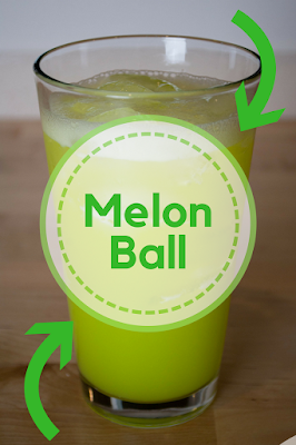 Melon Ball is the best mixture of vodka, melon liqueur (Midori) and orange juice.