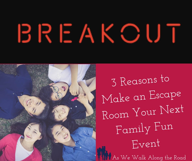 Looking for something different for your next fun #family outing? Try an #escaperoom game. Not only are they fun, they have #educational benefits as well! #homeschooling #AsWeWalk