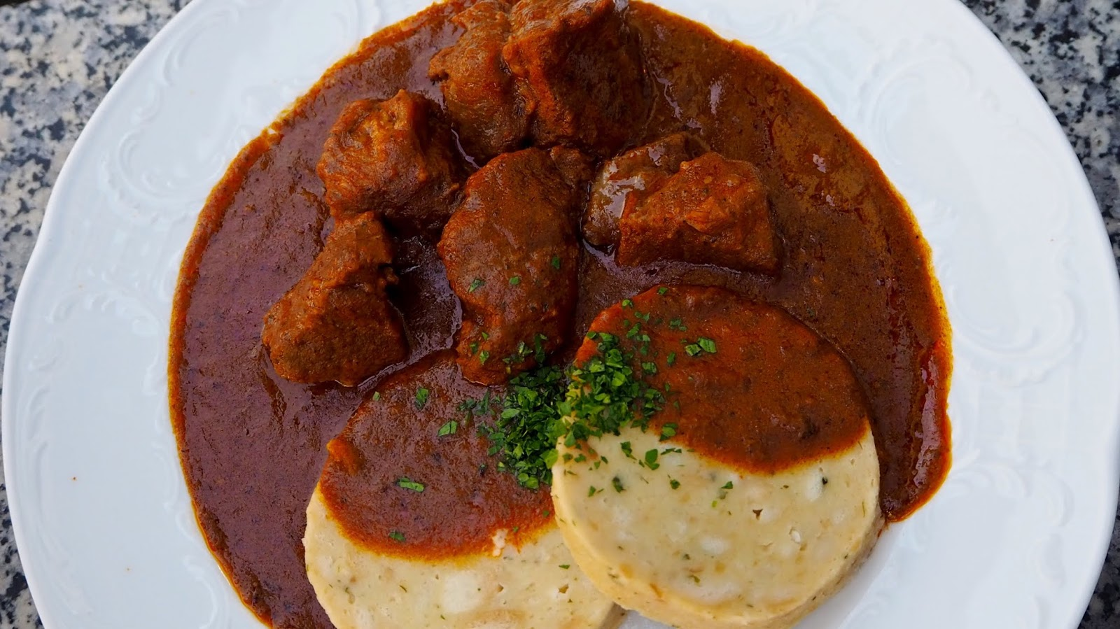 Traditional Goulash with Dumplings