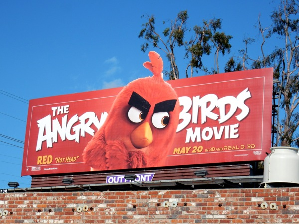 Angry Birds Red billboard