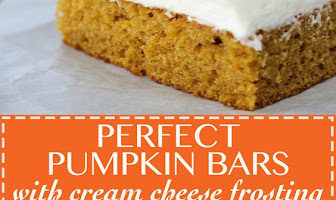 PERFECT PUMPKIN BARS WITH CREAM CHEESE FROSTING