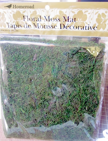 How to Make an Easy Square Moss Wreath. Homeroad.net