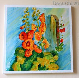 Malwy- obraz malowany akrylami