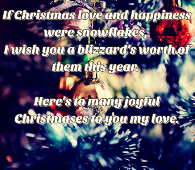 romantic christmas quotes message