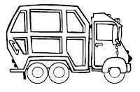 דפי צביעה משאיות אשפה